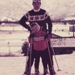 父とスキー場ゲレンデにて